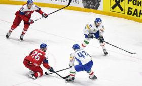 Чешские хоккеисты разгромили итальянцев начемпионате мира
