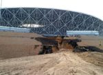 ВВолгограде из-заливня размыло склон у«Волгоград-Арены»