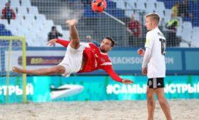 Сборная России победила немцев вматче отборочного турнира кЧМпопляжному футболу