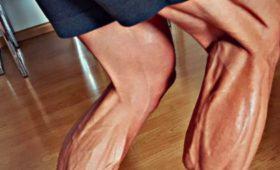 Фото ногвелогонщика испугало пользователей сети