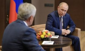 Путин встретился в Сочи с президентом Абхазии в разгар выборной кампании