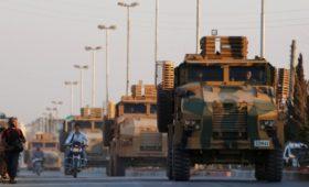 Сирийская авиация обстреляла турецкий конвой