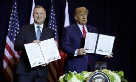 Трамп и Дуда договорились расширить военный контингент США в Польше