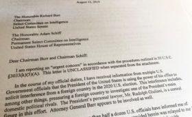 Конгресс опубликовал жалобу разведчика на Трампа из-за беседы с Зеленским