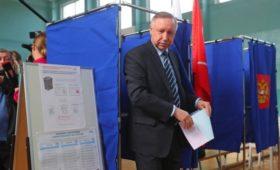 Беглов сохранил лидерство после подсчета 50% бюллетеней