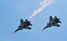 СМИ сообщили о столкновении двух истребителей Су-34 над Липецком