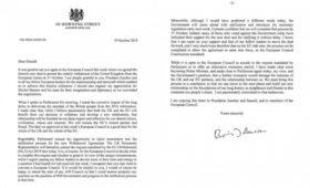 СМИ опубликовали письма Джонсона Туску об отсрочке Brexit