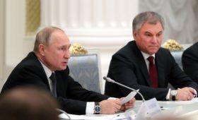 Володин на встрече с Путиным предложил точечную корректировку Конституции