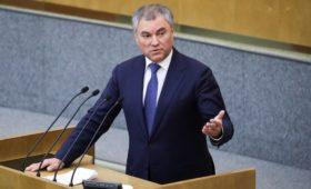 Володин обвинил кабмин в затягивании исполнения послания Путина