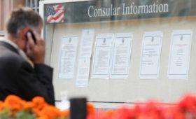 Посольство России сообщило о новых проблемах с выдачей виз США