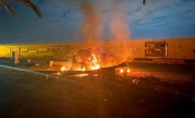Власти показали фото с места гибели генерала Сулеймани у Багдада