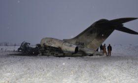 Военные США нашли останки погибших при крушении самолета в Афганистане