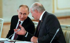 Bloomberg узнал о попытке Путина убедить Лукашенко создать «сверхдержаву»