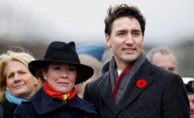Премьер-министр Канады изолировался из-за проверки жены на коронавирус